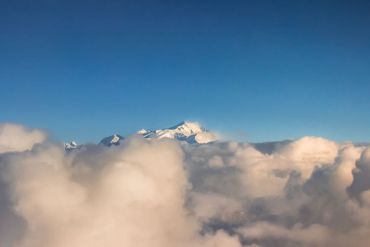 Sea Of clouds Clouds Mont Blanc Mountain Nature No People Scenics - Nature Sky Snow Sun Sunshine Tranquil Scene Tranquility White White Color