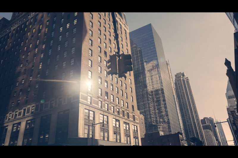 Usa Trip 2017 Last Summer Let's Go Explore USA New York City Manhatten Last Days Of Summer New York City Life Urbanphotography City Skyscraper Low Angle View Reflection Financial District  Back In New York Cinematic Cinematic Photography Street View Streetphotography Architecture No People Office