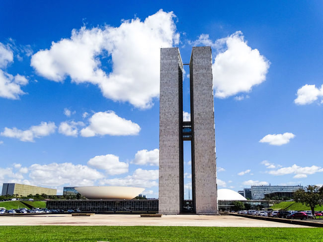 ezefer Ancient Civilization Architecture Brasília Building Exterior Built Structure Cloud - Sky Congresso Nacional Day Grass History Monument No People Outdoors Sky The Architect - 2017 EyeEm Awards Travel Destinations
