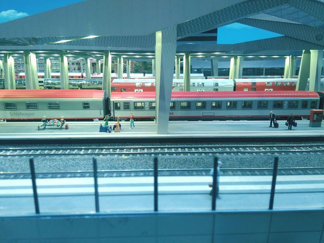 Rail Transportation Railroad Station Train - Vehicle No People Cityscape Built Structure Miniversum Modelling Model Table Architecture Transportation Aerial View Street