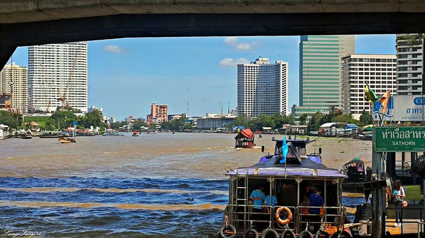 mae nam chao phraya bangkok Architecture Bangkok Built Structure City City Life Mae Nam Chao Phraya Bangkok Mode Of Transport Taksin Bridge Thailand Tourism Tourist Travel Travel Destinations Water