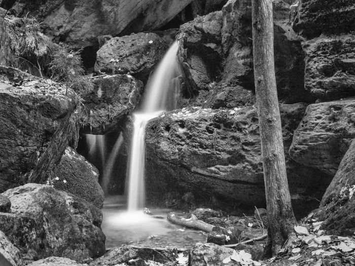Natural Natural Beauty Quiet Beauty In Nature Black And White Flowing Flowing Water Kaskade Landscape Long Exposure Nature No People Outdoors Rock Rock - Object Rock Formation Scenics - Nature Silence Stones Stones & Water Stream Summer Tranquility Water Waterfall