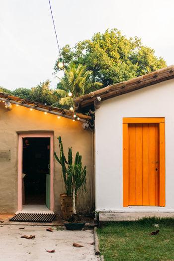 Houses in quadrado square, trancoso, bahoa - brazil