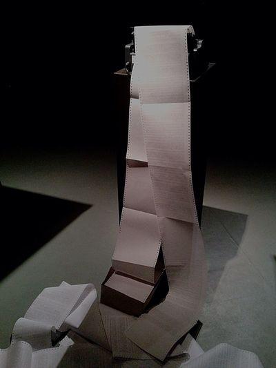 Transmediale Exhibition Art Installation paper maschine?