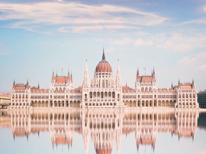 Mirrors truth EyeEm Best Shots Minimal Architecture Minimalism Symmetry Budapest, Hungary City Blue Sky Sky And Clouds Reflection