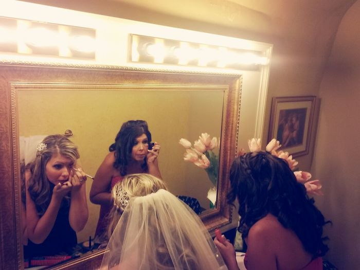RePicture Femininity Wedding Day Sisters ❤ A Moment With The Bride