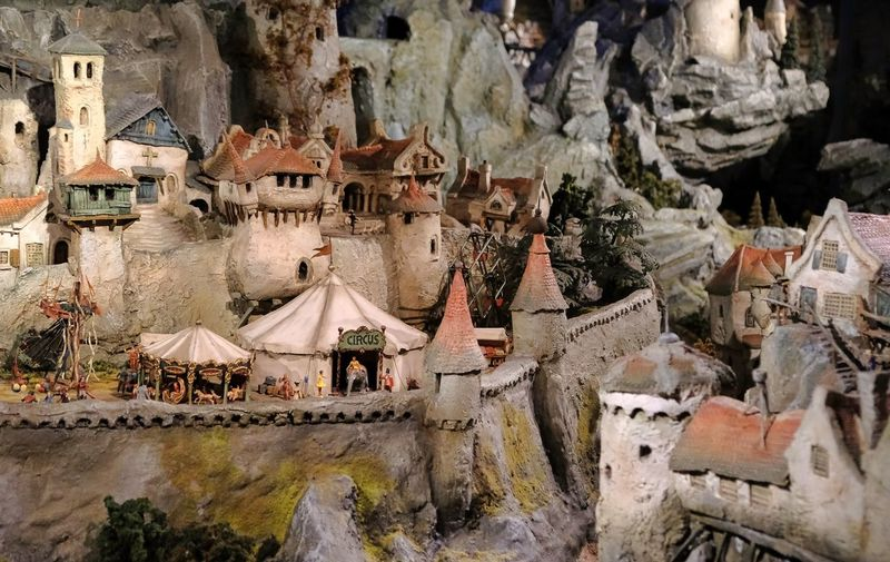 Attraction theme park the Efteling, Kaatsheuvel, the Netherlands Built Structure Architecture Art And Craft Day Religion No People Representation Human Representation Belief Spirituality Building Building Exterior Craft Creativity History Place Of Worship The Past Sculpture Outdoors Statue
