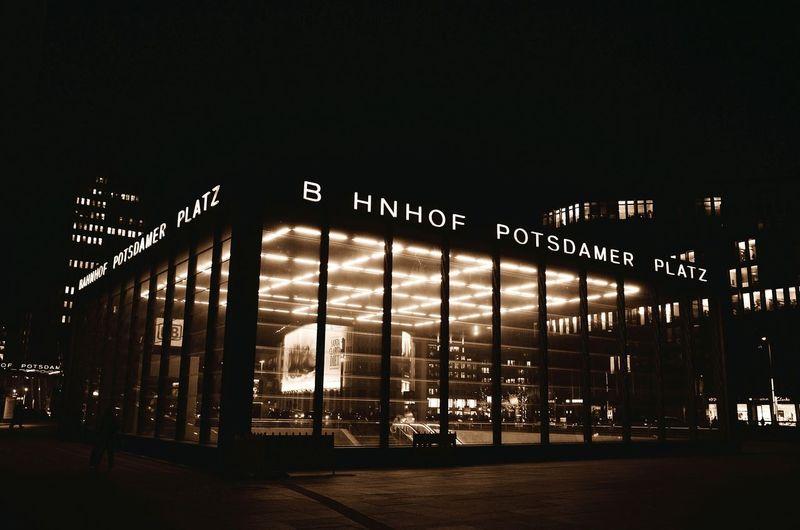 Minimalist Architecture Berliner Ansichten Berlin Photography Potsdamer Platz Bahnhof Potsdamer Platz Sepia_collection Architecture Streetart Light Architecture Nightphotography Night Lights Underground