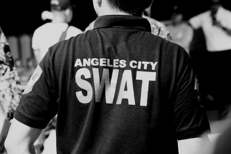 Angeles City SWAT Earthquake Porac Aftermath Police Uniform Protective Workwear Uniform