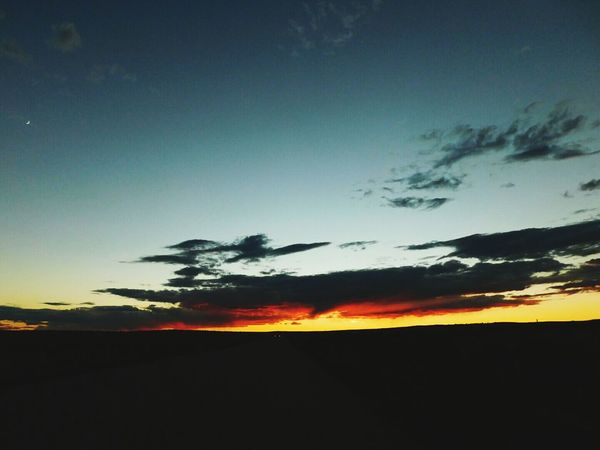 Sunset Landscape Outdoors Beauty In Nature Newmexicosunrise NewMexicoTRUE Newmexicophotography Newmexicoskys Road Tranquil Scene Newmexicosunsets Newmexicoskies Newmexicosunset