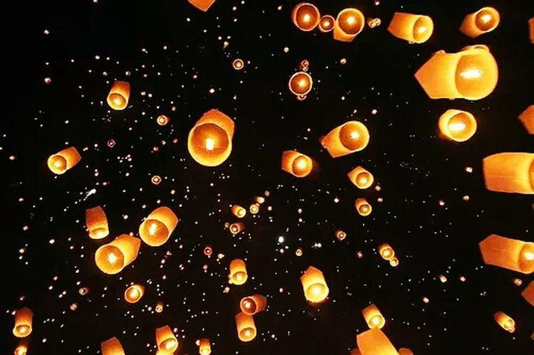 Lights Flying Lanterns Beautiful ♥ Journey Into The Dark