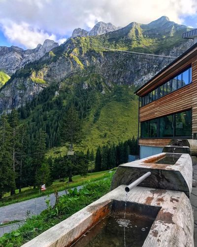 Kriens cable car station Mountain Water Mountain Range Tree Nature Day Scenics
