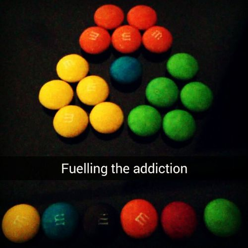 Fuelling the addiction. Mnms Howigetthroughstudying