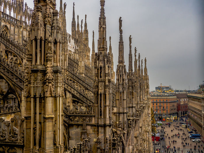 Milan Cathedral Against Sky In City