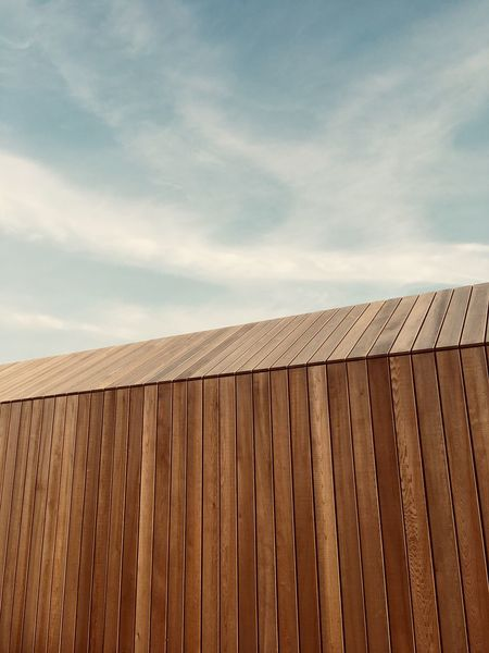 Sky Cloud - Sky Architecture Built Structure Wood - Material Nature Building Exterior No People Day Pattern Roof Outdoors Fence Wall - Building Feature Building Wall Low Angle View Boundary Brown Safety