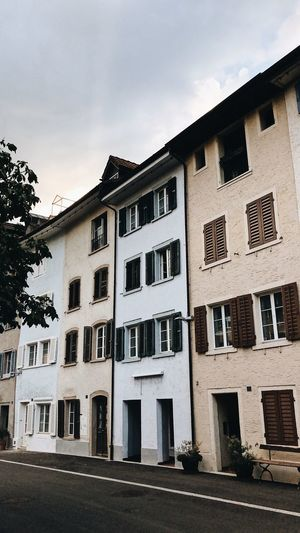 Klingnau Switzerland Painted Houses Swiss Village Ancient Architecture Village Life Village Little Village European City Old Town Switzerlandpictures Switzerland Klingnau Architecture Built Structure Building Sky Residential District Window House No People Day Abandoned Street Old City