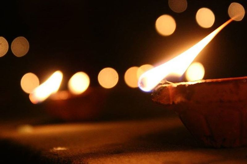 Diwali Festival Indian IndianFestivals Light Bokeh Lamp Cities At Night