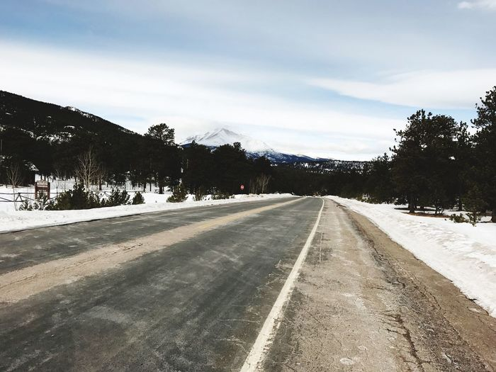 Road The Way Forward Outdoors Tranquil Scene Cloud - Sky Scenics No People Mountain Winter Rocky Mountains