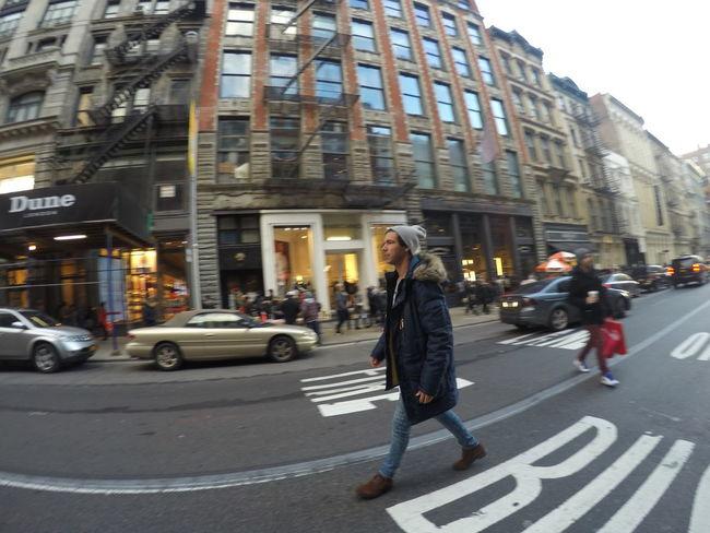 Walking around Soho district, NYC Man Manhattan Model Modern New York New York City Soho Travel Winter