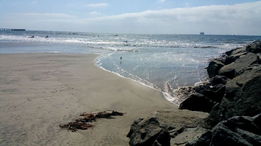 Beach Sea Sand Horizon Over Water Water Sky Nature Cloud - Sky Tranquility Day Outdoors No People Wave Beauty In Nature Swimming Surfers Meditation Mood Copy Space Lost In The Landscape Tranquility Minimalism Atmospheric Artistic Sand Piper Perspectives On Nature