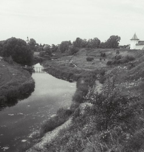 Суздальские виды. пейзаж река Landscape River