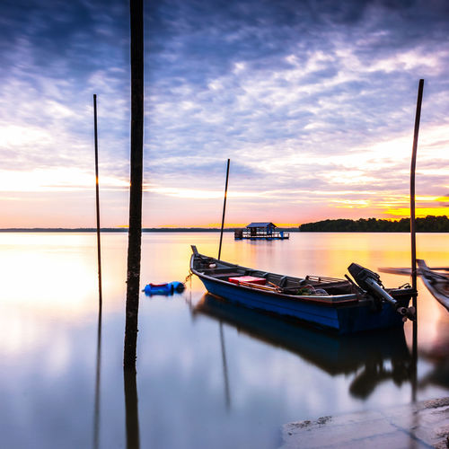 Sunrise at jetty Selangor Beauty In Nature Cloud - Sky Day Fisherman Jetty Malaysia Nature Nautical Vessel No People Outdoors Port Klang Reflection Scenics Sky Sunrise Sunset Tranquil Scene Tranquility Water Waterfront