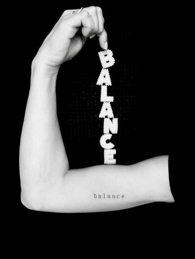 A bit of... Balance Portrait Mood Getting Inspired Hand Human Body Part One Person Human Hand Real People Black Background Holding Unrecognizable Person Communication Women Lifestyles Body Part Sign Text Studio Shot A New Perspective On Life