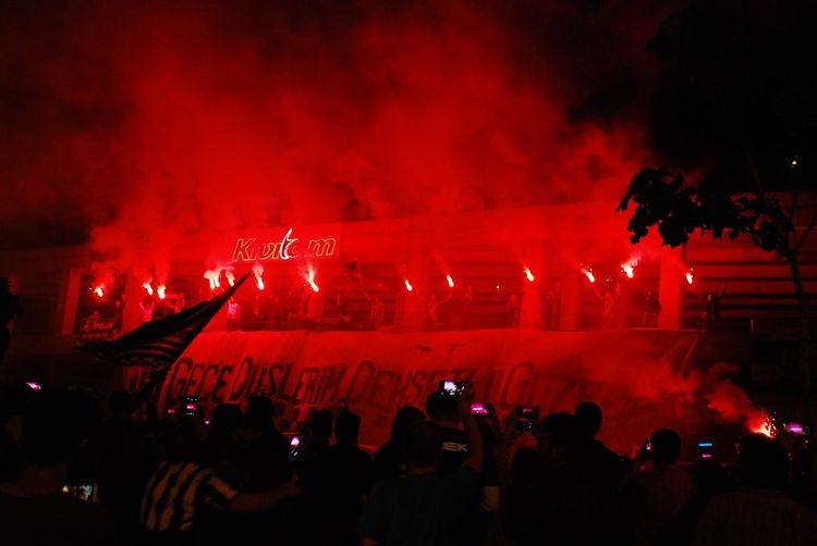 Football Fever Champions Champion Championship League Besiktas Turkey Celebration Congratulations Red Black Torch Torchlight Torches