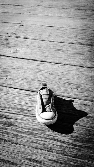 Rough Texture Wood - Material Urban Board Walk Shadow Stripes Pattern Shoe Small Shoe Abondoned Lost Black And White Monochrome Photography