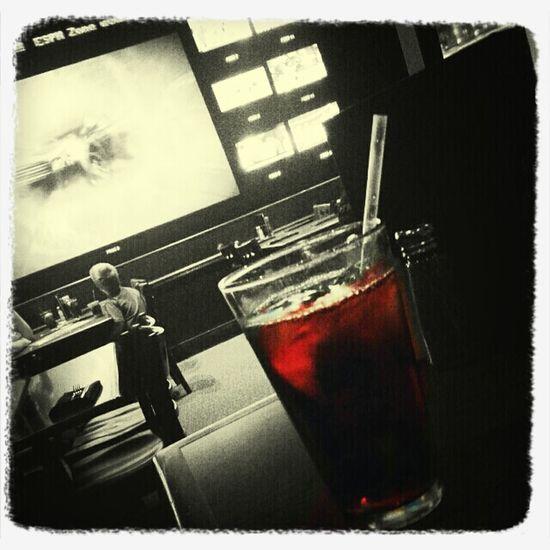 enjoying a drink at espnzone