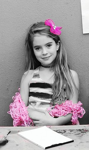 Looking At Camera One Girl Only Beauty Girls Childhood Day Edited Pink Bow Blackandwhite. My Beautiful granddaughter, love of my life Beautiful