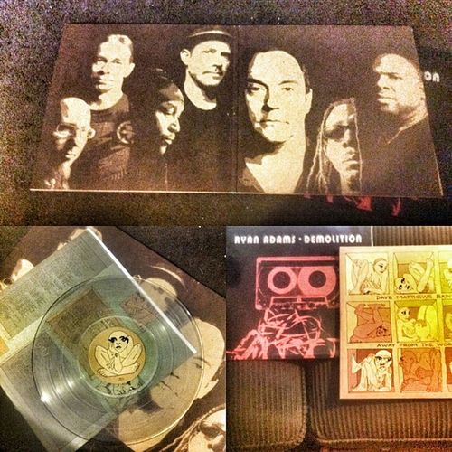 Bought some Vinyl today. Check out Dave's clear records. Dmb RyanAdams Davematthews AwayFromThe World