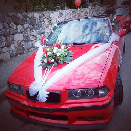 By Me My Photo My Photography Photo Photography Taking By Me Taking Photo Bmw Bmw Car Red Bmw Red Flowers Red Roses Flowers Roses Decorated Car Widding Balloons Red Beautiful Day