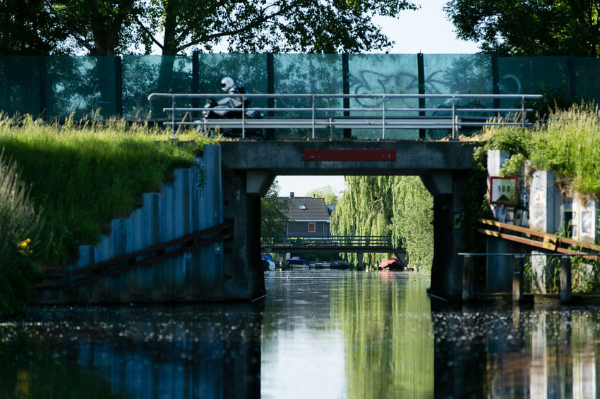 Bridge Bridge - Man Made Structure Day Double Bridge Moped Outdoors Reflection Tree Water
