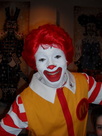 Clown Freaking Out Freaky Macdonald's Makeup Portrait RonaldMcDonald Smiling Sourire Macdonals Macdonalds