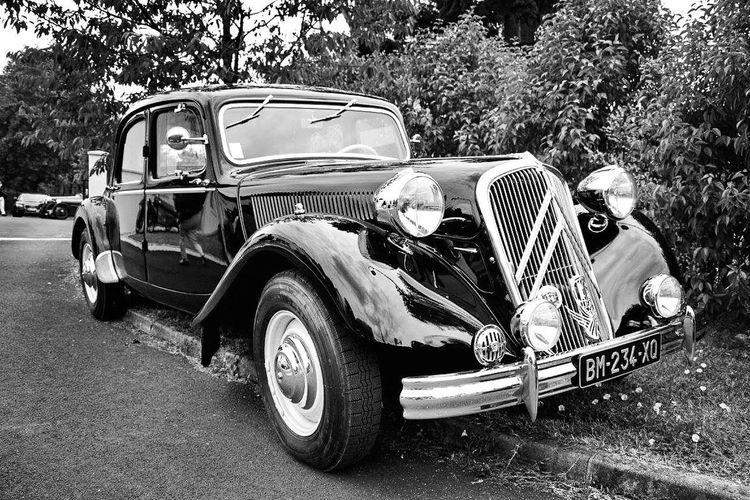 Old vintage car on land