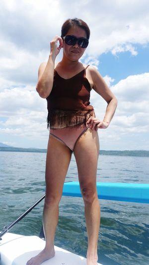 sunny EyeEmNewHere EyeEm Best Shots Boatlife Skipper OpenSea Self Love Sunglass  Bikini Swimwear EyeEm Selects Water Sunglasses Fashion Glasses Sea One Person Sky Swimwear Nature Holiday Vacations