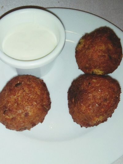 Healthy Eating VergelMadrid Vegetarianfood Food And Drink Cremaagria Bolasdeverdura Vegetableballs Tasty
