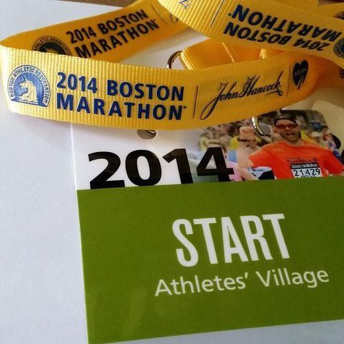 Boston Marathon credentials secured. WeRunTogether Bostonstrong