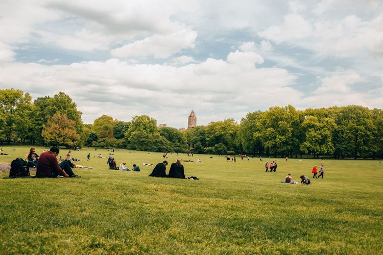 Breathing Space Grass Real People Tree Field Large Group Of People Sky Cloud - Sky Green Color Nature Day Men Growth Landscape Lifestyles Outdoors Women New York City New York Daylight People Tranquility Beauty In Nature Scenics The Week On EyeEm