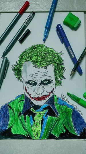 Joker Heathledger Drawing Sketch Art Batmanthe best joker ever.