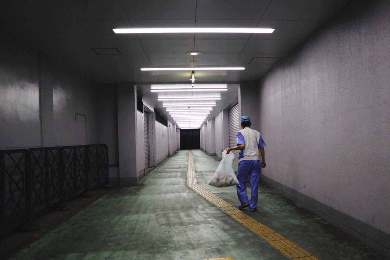 35-39 Years,  Corridor,  Full Length,  Garbage,  Holding