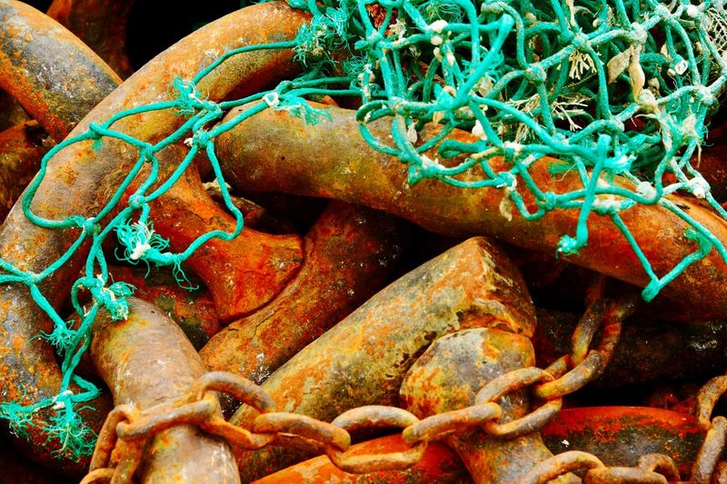 Chains Bretagne Brittany Nikon D850 Rusty Fishing Net No People Water Fishing Industry Fishing Day Close-up Sea Outdoors Marine Plastic Environment - LIMEX IMAGINE The Still Life Photographer - 2018 EyeEm Awards