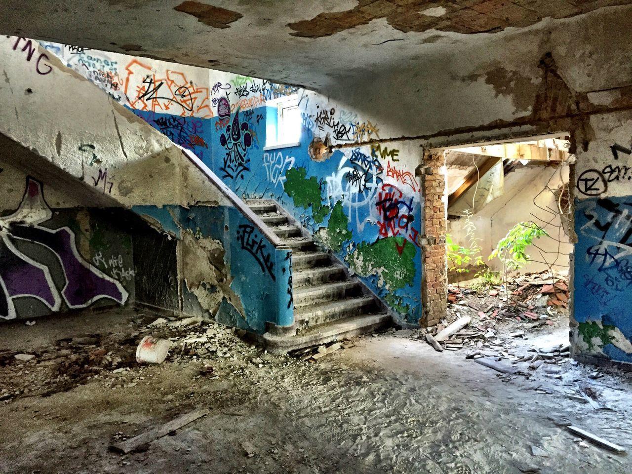 Graffiti in abandoned house