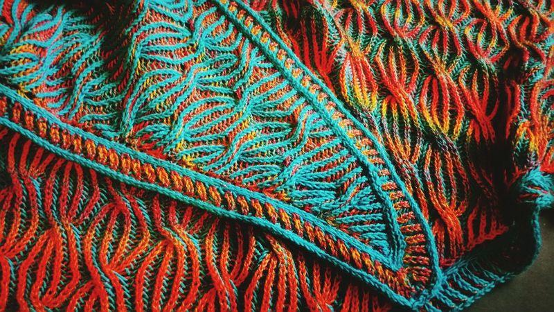 Pattern Multi Colored Knitting Pattern Briocheknitting Shawl Knitting Accessories ❤ Knitting Project