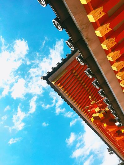 Sky Low Angle View Built Structure Architecture Architecture Nature Art Colors Red Japan Eyemphotography