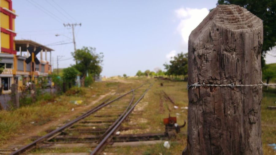 Romana Railroad Track Rail Rural Scene Exploring Check This Out Post Old Dominican Republic Perspective