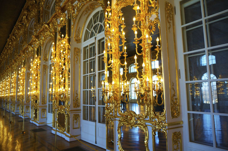 2014 Catherine Palace CatherinePalace Russia Saint Petersburg サンクトペテルブルク Room Gold Gorgeous Light Wall Door エカテリーナ宮殿 ロシア
