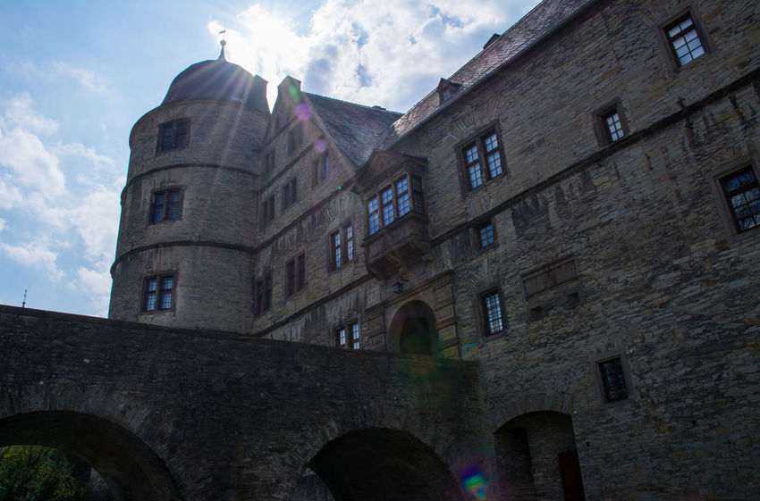 Photography Wewelsburg Germany Bridge Bridgeview Nazi Hq Skyporn Clouds Cloudporn Stones Doorway Blue Sky Buildings Old Shadow Flare Sunlight Castle High Angle View Nikon Nikonphotography Nikon D5200 Window Museum Buildings & Sky