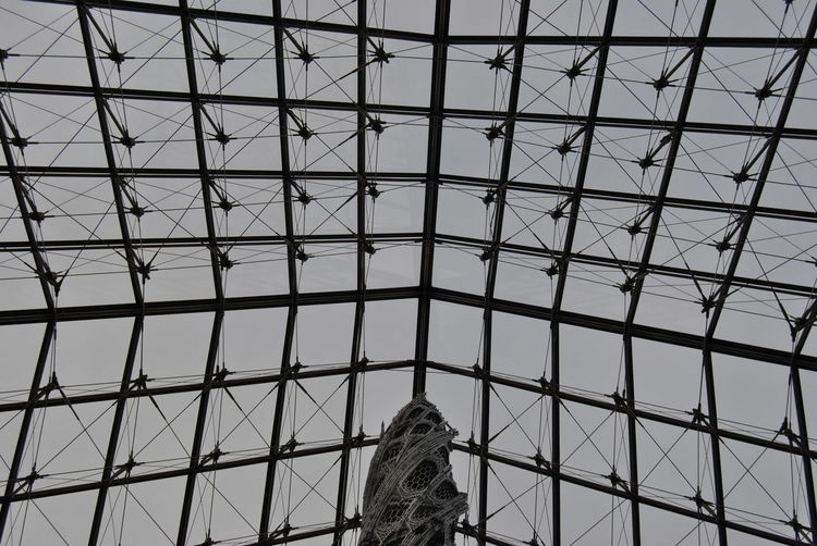 Architecture Art Arts Culture And Entertainment Beauty Built Structure Cultures Day Glass Glass Art Glass Pyramid Indoors  Low Angle View Modern Museum Pattern Perfection Sky Structure Symmetry Travel Destinations
